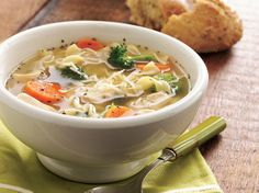 {Italian Chicken Noodle Soup} Made 12/2013 - DELICIOUS.  Celery instead of broccoli though.  Love this recipe!