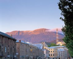 Salamanca Place with Mt Wellington in the background  things to do in tasmania