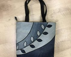 jean bag, bag from fabric, bag in a gift, bag