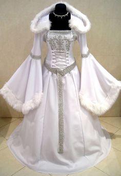 Gothic wedding dresses medieval dress and black wedding dresses