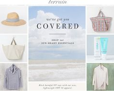 We have you covered with sun-ready essentials at Terrain.