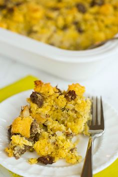 Sausage Cornbread Stuffing - Brown Eyed Baker - A Food & Cooking Blog