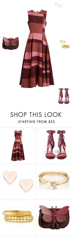 """""""Untitled #2645"""" by perfext-naomie ❤ liked on Polyvore featuring Roksanda, Jimmy Choo, Ted Baker, Loren Stewart, Ashley Pittman and Anya Hindmarch"""