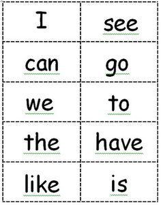 free ! 30 Sight Word Flash Cards