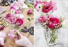 Tischdeko selber machen – einfach & schön If you want to do the table decoration yourself, you will find some nice suggestions … Small Centerpieces, Wedding Centerpieces, Wedding Decorations, Diy Wedding, Dream Wedding, Wedding Day, Table Wedding, Table Arrangements, Floral Arrangements