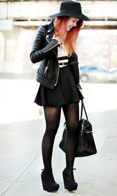 Skirt- Romwe / HERE   Bag- Romwe  White Shirt- Nasty Gal  Shoes- Jessica Buurman  Jacket – Boda Skins  Harness- Regal Rose  Necklace- Puloma