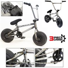 """Unique Raw Metal"" 3 Piece Crank 2015 Bully 10"" Mini BMX Newest Model Trick Bike http://jj2.in2cpa.com/bmx-bikes/?asin=B00WFFM5VK"