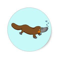 Ornithorynque canard-affiché par natation mignonne Baby Platypus, Cartoon Drawings, Mammals, Scooby Doo, Shark, Creatures, Clip Art, Cute, Tattoo Ideas