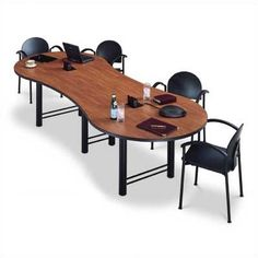 Modern Foot White Conference Table And Chairs Set WHITE BLACK - 12 foot conference table with data ports