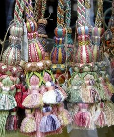 haywoods trimming | http://www.declercqpassementiers.fr/ Trims and Tassels in Paris