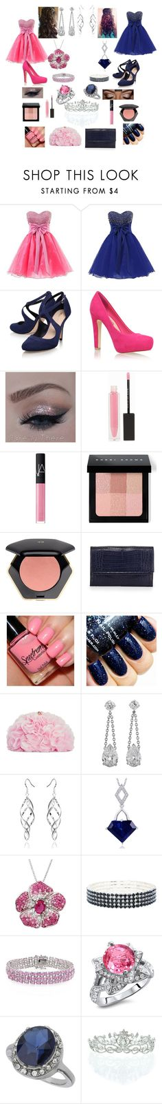 """""""Prom with bestie"""" by lovebeingwacky ❤ liked on Polyvore featuring Miss KG, MAKE UP STORE, NARS Cosmetics, Bobbi Brown Cosmetics, H&M, Nancy Gonzalez, Betsey Johnson, Oravo, Amanda Rose Collection and M&Co"""
