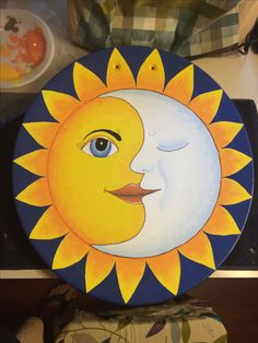 Hand drawn and painted. Satellite Art, Celestial Art, Rock Painting Designs, Junk Art, Mural Art, Painting, Art, Painting Crafts, Seascape Paintings