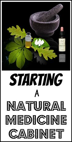 How to start a natural medicine cabinet with just a few bare bones essentials.