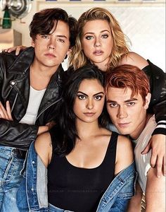 Cole Sprouse, Camila Mendes, Lili Reinhart and KJ Apa for Entertainment Weekly Kj Apa Riverdale, Riverdale Quotes, Bughead Riverdale, Riverdale Kevin, Riverdale Tv Show, Riverdale Tumblr, Riverdale Season 1, Riverdale Veronica, Riverdale Netflix