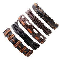 Black Leather Bracelet Men Multilayer Braid Bracelets & Bangles Punk Wrap Bracelets for Women Punk Casual Men Jewelry Braided Bracelets, Bracelets For Men, Fashion Bracelets, Bangle Bracelets, Fashion Jewelry, Bangles, Man Jewelry, Jewelry Accessories, Dior Jewelry