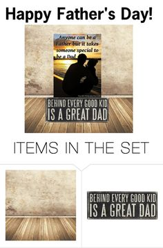 """""""Happy Father's Day"""" by joliefemmefashions ❤ liked on Polyvore featuring art"""