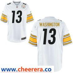 d2aa90e35 Men's Pittsburgh Steelers #13 James Washington White Road Stitched NFL Nike  Game Jersey Steelers Uniforms