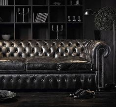 The Chesterfields 1780 William Blake Leather Couch