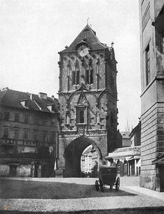 Prašná Brána, Praha, Czech Republic, before reconstruction by Josef Mocker Old Pictures, Old Photos, Heart Of Europe, Medieval World, Old Photography, History Photos, Vintage Travel, Czech Republic, Old World