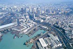 view of Casablanca port area