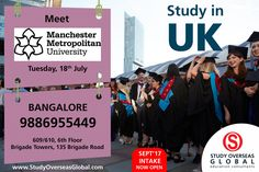 Manchester Metropolitan University will be visiting on 18th July 2017 at Bangalore. Visit: http://studyoverseasglobal.com/ for details. #StudyOverseas #UniversityVisit