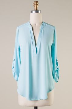 Collin Shirt in Pale Blue | Women's Clothes, Casual Dresses, Fashion Earrings & Accessories | Emma Stine Limited