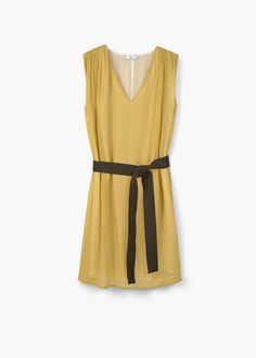 Φόρεμα ζώνη αντίθεση - Φορέματα for Γυναίκα   MANGO ΜΑΝΓΚΟ Ελλάδα