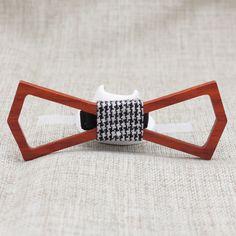 Hollow Slim Wooden Bow Tie