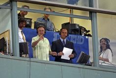 Don Orsillo and Jerry Remy.  Best broadcasting team in the business breaking up at the end of 2015 season.  Sad face.
