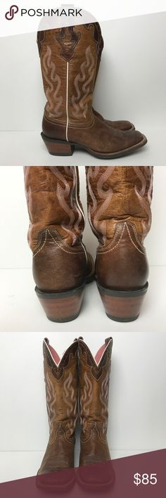 Ariat Crossfire Cowgirl boots Size 9 Ariat Crossfire Cowgirl boots. Some minor scuffs. This is a great sturdy boot. Size 9 Ariat Shoes Heeled Boots