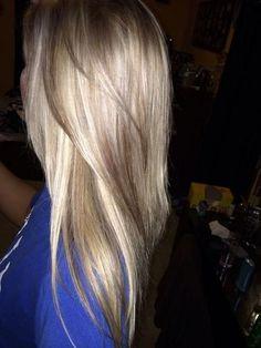 Blonde hair with mocha lowlights