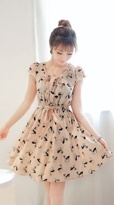 Trendy Ideas For Style Girl Fashion Sweets Lovely Dresses, Trendy Dresses, Vintage Dresses, Casual Dresses, Short Dresses, Girls Dresses, Summer Dresses, Chiffon Dresses, Dress Outfits