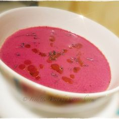 Beetroot & Lavender Soup - vegan & organic