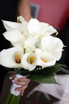 White Arum Lilly Bouquet