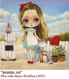 "Nerea Pozo: ""Morning Job"" (40 x 40 cm) 2011"