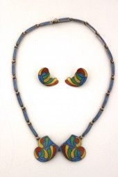 Collier mit Ohrclips 925er Mexico