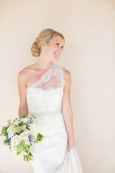 Monique Lhuillier Martine One Shoulder Wedding Dress - Nearly Newlywed