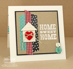 Debbie Carriere, Scrappin' My Heart Out: Western Sentiments.MFT New Product Tour Paper Cards, Diy Cards, Craft Cards, Housewarming Card, Stampin Up Karten, New Home Cards, Happy New Home, Washi Tape Cards, Welcome Card