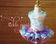 Oh, The Places You'll Go! Birthday Tutu Outfit- Pink, purple and aqua- Includes top, tutu and hairbow- Can be made to match your party