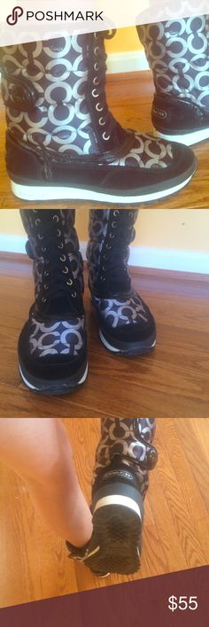 Coach dorean boots great condition almost new Very cute,new and comfortable coach boots Coach Shoes Winter & Rain Boots