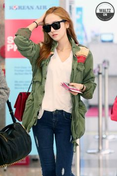 [130416] Jessica at Gimpo Airport Heading to Japan