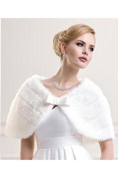 cape chle tole de mariage fausse fourrure noeud accessoires de la marie - Bolero Fourrure Mariage