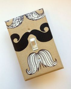 Mustache Light Switch Plate Cover / Medium Size / by SSKDesigns, $8.00