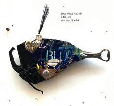 il-blu-xs Fish Wall Art, Fish Art, Wood Crafts, Diy And Crafts, Painted Fish, Metal Fish, Fish Sculpture, Found Object Art, Project 4