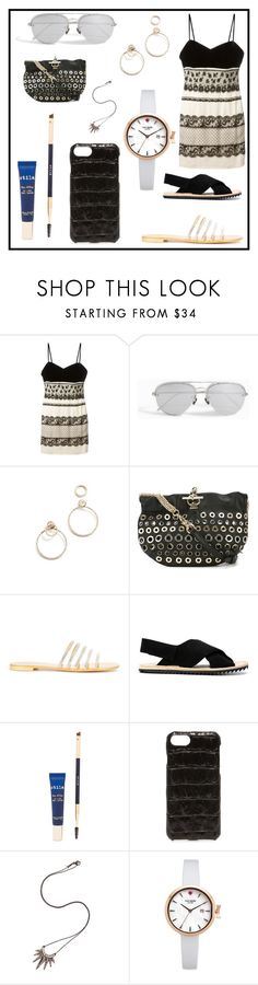 """set for alert"" by denisee-denisee ❤ liked on Polyvore featuring Christian Dior, Linda Farrow, EF Collection, Sonia Rykiel, Giuseppe Zanotti, Pedro García, Stila, Valenz Handmade, Nikos Koulis and Kate Spade"