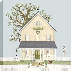 Buy Sally Swannell - Myrtle Cottage Print on Canvas, 50 x 50cm Online at johnlewis.com