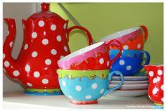 Teapot - Teacup Dots