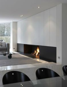 modern architecture - fireplace - metalfire - universal - wood-burning open fireplace