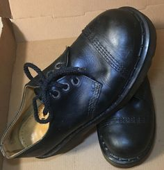 94433009443aa5 Details about Dr. Martens 1925 5400 PW 3-Eye Steel Toe Shoes Size US 8 - UK  7 Vintage   Rare