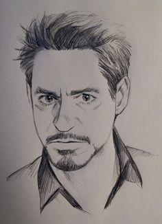 tony stark marvelous pics in marvel drawings, marvel art, art - tony stark Cool Art Drawings, Pencil Art Drawings, Art Drawings Sketches, Drawing Ideas, Pencil Sketches Of Faces, Iron Man Drawing, Man Face Drawing, Drawing Faces, Drawing Pro